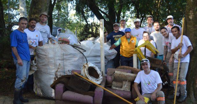 CERTAJA participa de mutirão para limpeza das margens do rio Taquari