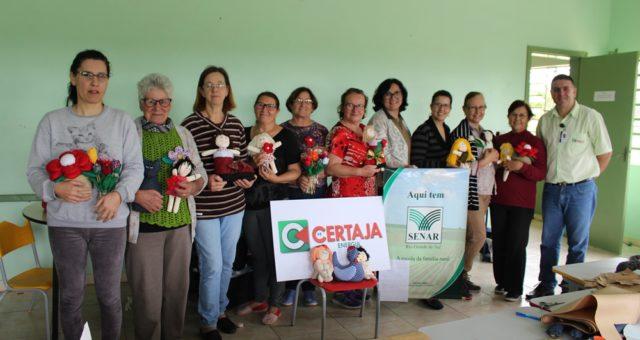 CERTAJA apoia curso de Artesanato bonecos de pano em Boa Vista, Triunfo