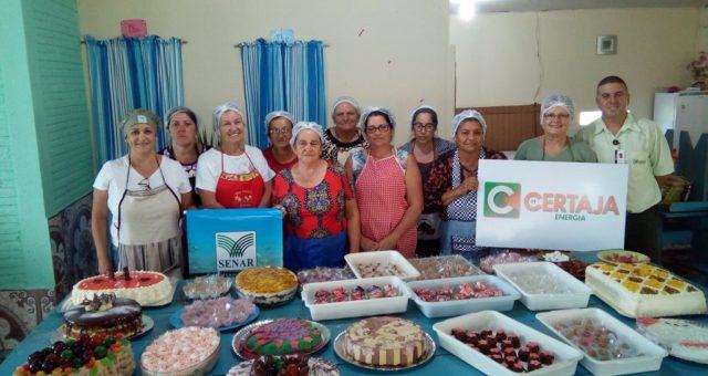 CERTAJA apoia curso de Tortas e docinhos caseiros na localidade de Amoras, em Taquari