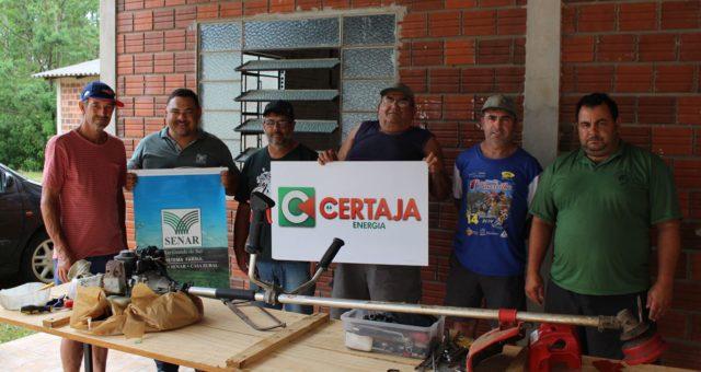 CERTAJA apoia curso de operação e manutenção de roçadeiras em Paverama