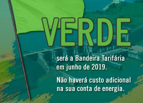 A bandeira tarifária de junho será verde