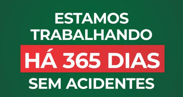 CERTAJA Energia conquista a marca de um ano sem acidentes de trabalho com afastamento