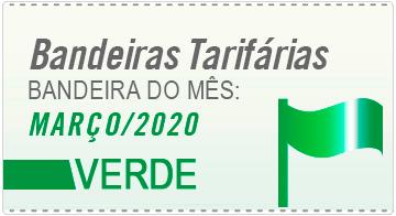 A bandeira tarifária em março de 2020 será verde