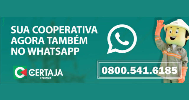 CERTAJA Energia inicia atendimento via WhatsApp