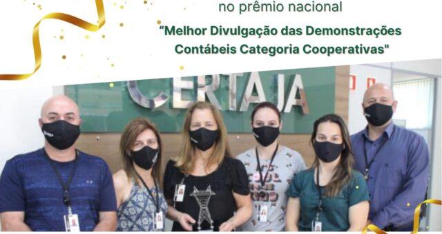 """Pelo terceiro ano consecutivo CERTAJA Energia recebe 1º lugar no prêmio """"Melhor Divulgação das Demonstrações Contábeis"""" em nível nacional"""